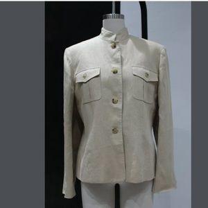 Womens 10 Ralph Lauren Made in USA Linen Blazer